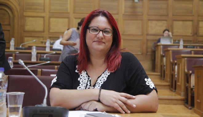 Η δήμαρχος Τήλου Μαρία Καμμά - Αλιφέρη