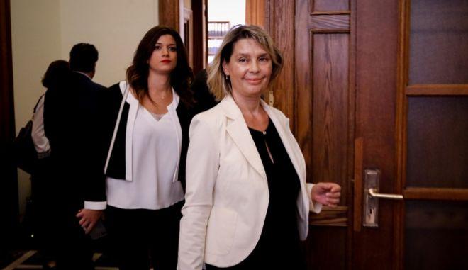 Η υφυπουργός Προστασίας του Πολίτη Κατερίνα Παπακώστα-Σιδηροπούλου