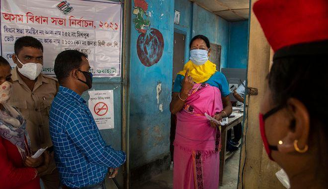 Διεξαγωγή εκλογών στο Gauhati της Ινδίας, 6 Απριλίου 2021