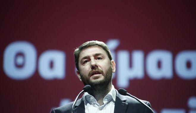 Κεντρική ομιλία του υποψηφίου για το νέο φορέα της κεντροαριστεράς ευρωβουλευτή Νίκο Ανδρουλάκη. Τρίτη 7 Νοέμβρη 2017. (EUROKINISSI / Στέλιος Μισίνας)