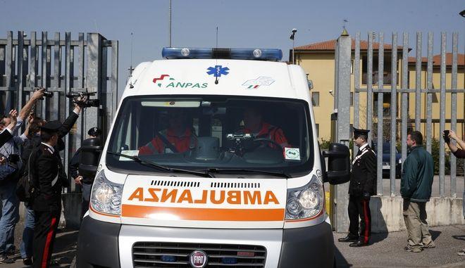 Ασθενοφόρο στην Ιταλία. Φωτό αρχείου.
