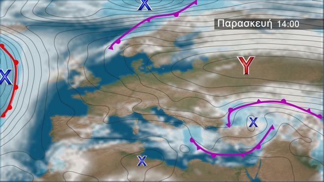 Τοπικά ισχυρές καταιγίδες στα Δυτικά και Νότια - Θυελλώδεις άνεμοι, χιόνια στα ορεινά