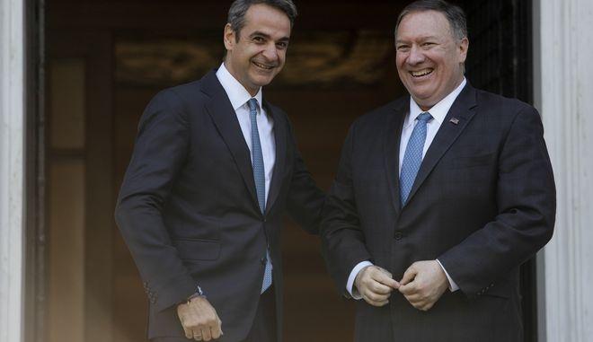 Συνάντηση του Πρωθυπουργού Κυριάκου Μητσοτάκη με τον Αμερικάνο Υπουργό Εξωτερικών Μάικ Πομπέο. Σάββατο 5 Οκτωβρίου 2019. (EUROKINISSI/ΠΑΝΑΓΟΠΟΥΛΟΣ ΓΙΑΝΝΗΣ )