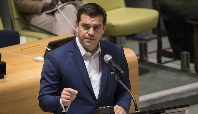 Greece's Prime Minister Alexis Tsipras attends the United Nations summit for Refugees and Migrants, in New York, USA, on September 19, 2016. /                ,  ,   , 19  2016.