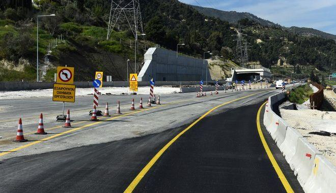 Στιγμιότυπο από την νέα Εθνική Οδό Κορίνθου - Πατρών