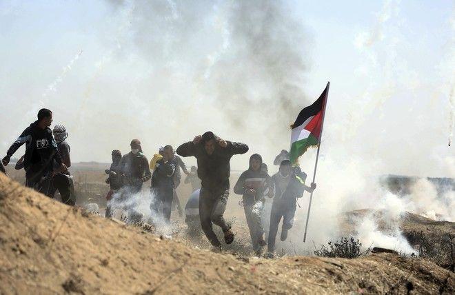 Παλαιστίνιοι διαδηλωτές στη Λωρίδα της Γάζας