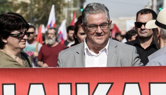 Απεργιακή συγκέντρωση και πορεία από το ΠΑΜΕ στην Αθήνα την Τετάρτη 2 Οκτωβρίου 2019.