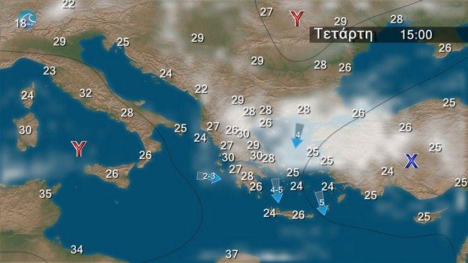 Σταματάει η αστάθεια από την Πέμπτη - Άνεμοι έως 6 μποφόρ στο Αιγαίο