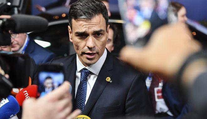 O πρωθυπουργός της Ισπανίας, Πέδρο Σάντσεθ
