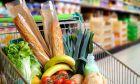 Τρόφιμα σε καρότσι σούπερ μάρκετ