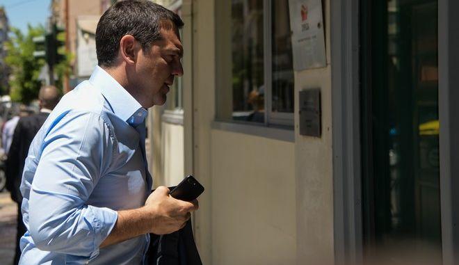 Συνεδρίαση της Πολιτικής Γραμματείας του ΣΥΡΙΖΑ υπό τον Αλέξη Τσίπρα