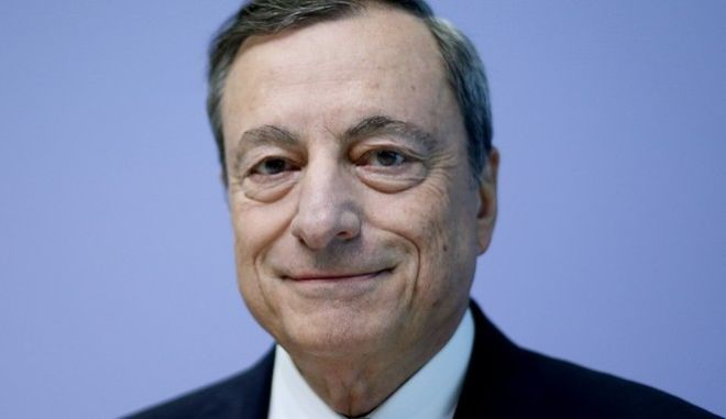 President of the European Central Bank Mario Draghi smiles prior to a news conference following a meeting of the governing council in Frankfurt, Germany, Thursday, Sept. 7, 2017. (AP Photo/Michael Probst)