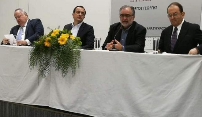Ο Νίκος Κοτζιάς στην παρουσίαση του βιβλίου του Γιώργου Γεωργή «Σεφέρης – Αβέρωφ. Η ρήξη»
