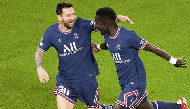 Παρί - Μάντσεστερ Σίτι 2-0: Άνοιξε λογαριασμό ο Μέσι, πήραν τη νίκη οι Γάλλοι