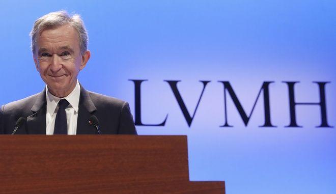 Ο Γάλλος μεγιστάνας Μπερνάρ Αρνό σε εκδήλωση του ομίλου LVMH στο Παρίσι τον Ιανουάριο του 2019