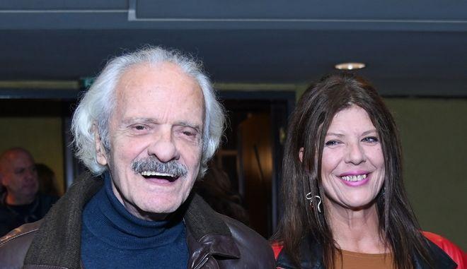 Ο Σπύρος και η Λίλιαν Φωκά σε εκδήλωση το 2020