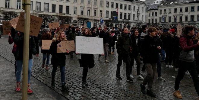 Στο Βέλγιο οι μαθητές διαδηλώνουν κάθε Πέμπτη για την κλιματική αλλαγή