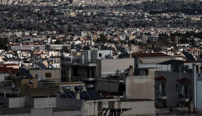 Σπίτια από ψηλά εν μέσω Lockdown στην Αθήνα