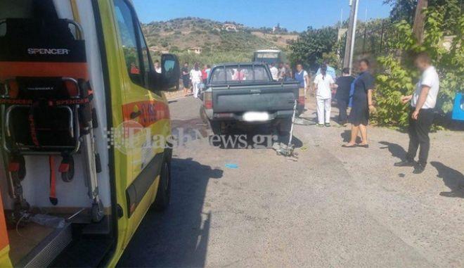Τρομακτικό δυστύχημα με γουρούνα στην Κρήτη: Ένας νεκρός και μια βαριά τραυματίας gourouna2