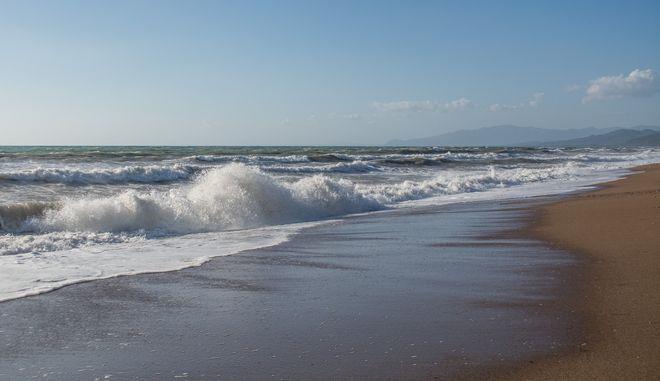 Στιγμιότυπο από την παραλία του Καλού Νερού στη Πελοπόννησο. (Κυριακή 13 Αυγούστου 2017) (EUROKINISSI/ΛΥΔΙΑ ΣΙΩΡΗ)