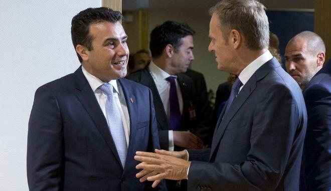 Συνάντηση Τουσκ-Ζαεφ στις Βρυξέλλες (Φωτό αρχείου)