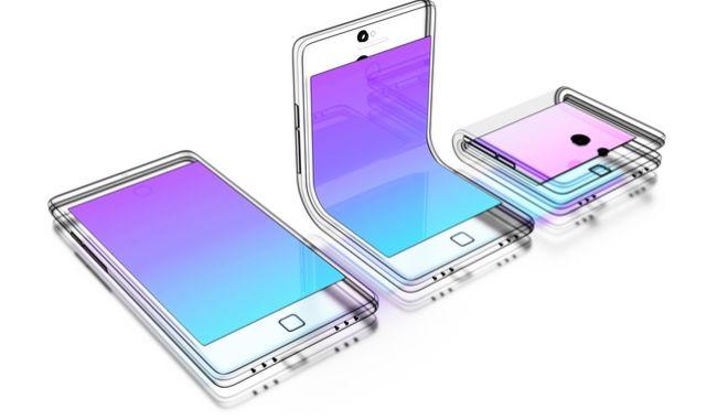Αφηρημένα σχέδια αναδιπλούμενου κινητού τηλεφώνου