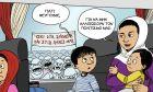 Σκίτσο του John Antono για όσα έγιναν στα Καμένα Βούρλα