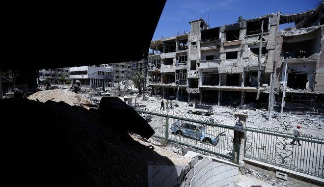 Η συριακή πόλη Ντούμα, όπου εκτιμάται ότι έγινε επίθεση με χημικά όπλα