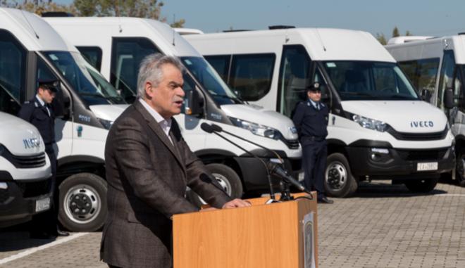 Ικανοποίηση Τόσκα από την παραλαβή των νέων οχημάτων της ΕΛ.ΑΣ.