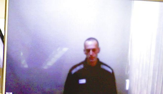 O Αλεξέι Ναβάλνι μετά την απεργία πείνας.