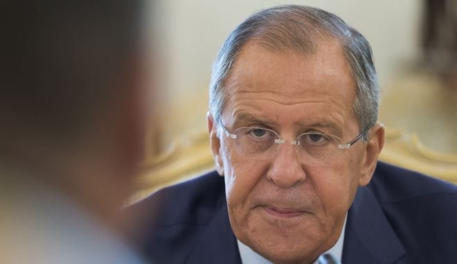 """FILE - in this Wednesday, Aug. 16, 2017 file photo Russian Foreign Minister Sergey Lavrov listens to Bolivian counterpart Fernando Huanacuni Mamani during their meeting in Moscow, Russia. Russia on Friday, Sept. 1, 2017 promised a """"tough response"""" after U.S. issued its order to shut the Russian Consulate in San Francisco and offices in Washington and New York and gave Russia 48 hours to comply, intensifying tensions between the two countries. (AP Photo/Ivan Sekretarev, File)"""