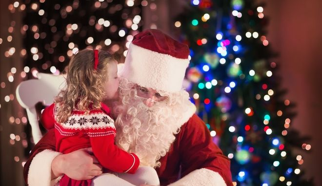 Άντρας ντυμένος Άγιος Βασίλης