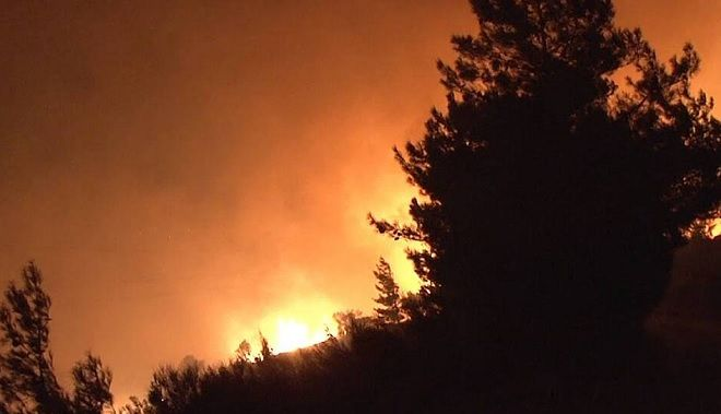 Πυρκαγιά στην Κάρυστο