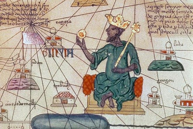 Detail from the Catalan Atlas, 1375 (vellum)