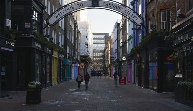 Εικόνα από το Λονδίνο τον Ιανουάριο του 2021