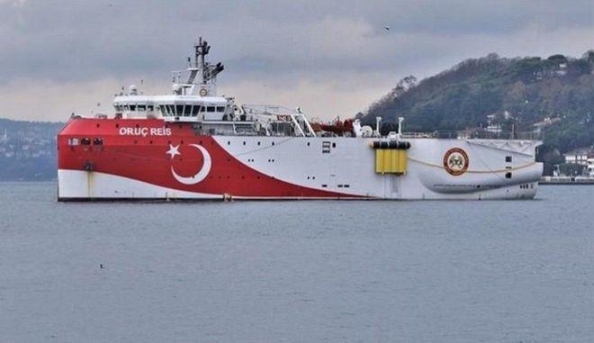 Το τουρκικό ερευνητικό πλοίο Ορούτς Ρέις