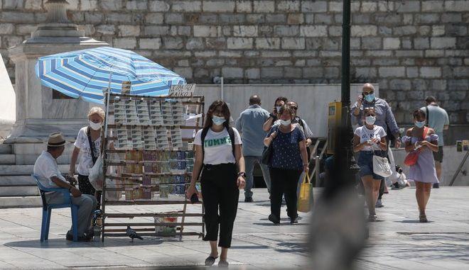 Εικόνα από την Αθήνα σε καιρό κορονοϊού