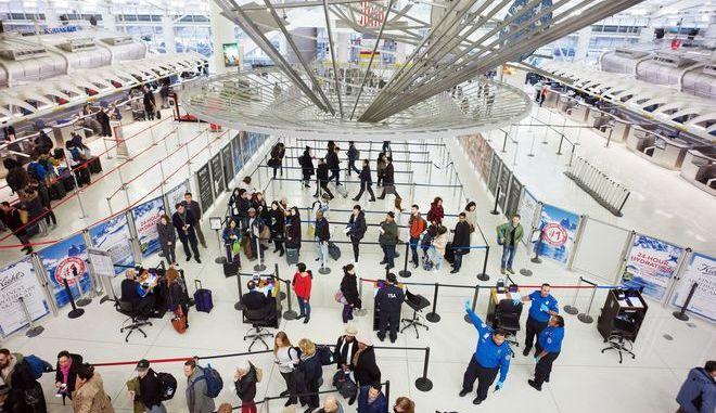 Το διεθνές αεροδρόμιο JFK στη Νέα Υόρκη