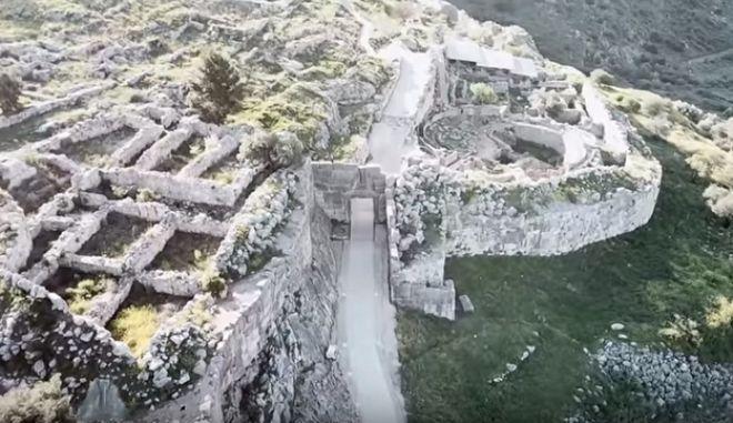 Στιγμιότυπο από τον αρχαιολογικό χώρο των Μυκηνών