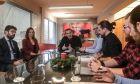 Συνάντηση του Προέδρου του ΣΥΡΙΖΑ Αλέξη Τσίπρα με αντιπροσωπεία εργαζομένων του προγράμματος για 4.000 νέους επιστήμονες 22-20 ετών,που υλοποίησε το Υπ.Εργασίας το 2018 και οι συμβάσεις τους λήγουν τον Ιανουάριο.