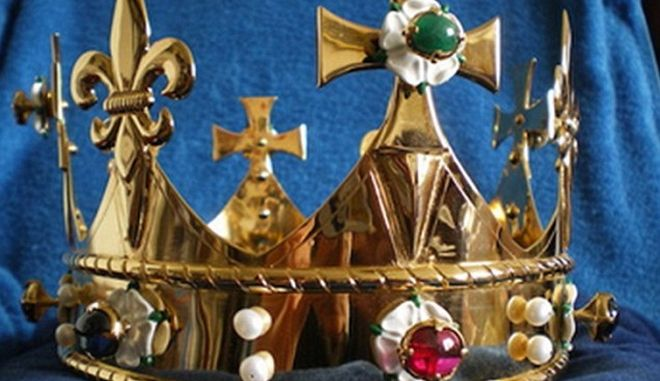 The funeral crown that will be laid to rest with the remains of Richard III when they are reintered at Leicester Cathedral Commissioned and donated by John Ashdown-Hill.