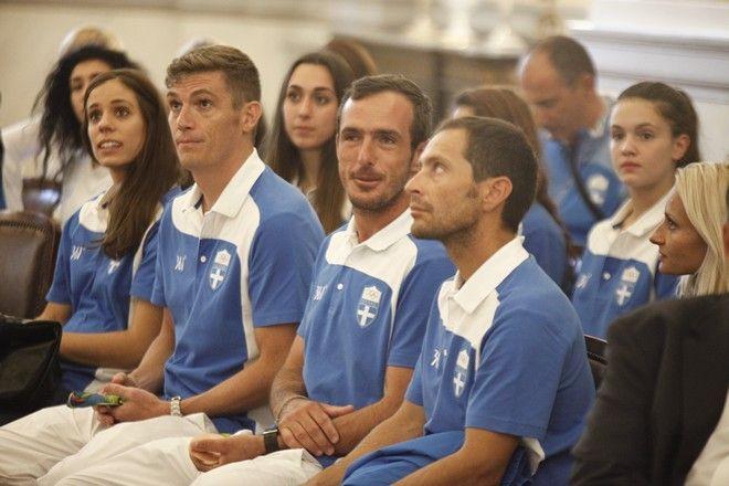 Υποδοχή από τον Πρόεδρο της Δημοκρατίας, Προκόπη Παυλόπουλου, των Ολυμπιονικών της Ελληνικής Ομάδας που έλαβε μέρος στους αγώνες του Ρίο Ντε Τζανέιρο στο Προεδρικό Μέγαρο την Πέμπτη 25 Αυγούστου 2016. Την αποστολή συνόδευσε ο υφυπουργός Πολιτισμού και Αθλητισμού, Σταύρος Κοντωνής. (EUROKINISSI/ΓΙΩΡΓΟΣ ΚΟΝΤΑΡΙΝΗΣ)