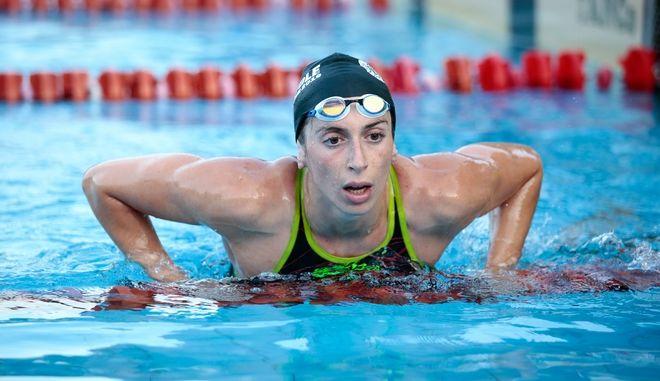 H Άννα Ντουντουνάκη στο πανελλήνιο πρωτάθλημα κολύμβησης του 2019