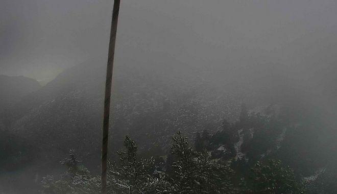 Τα πρώτα χιόνια έπεσαν στην Πάρνηθα, το βράδυ των Χριστουγέννων