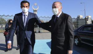Ο Τούρκος πρόεδρος υποδέχθηκε τον Εμίρη του Κατάρ