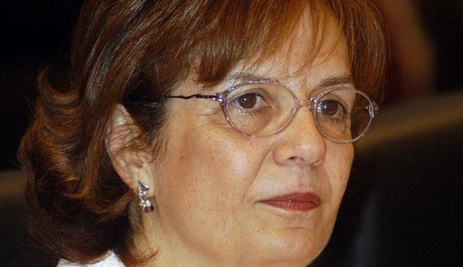 Η Μυρσίνη Ζορμπά τα χρόνια που ήταν ευρωβουλευτής του ΠΑΣΟΚ