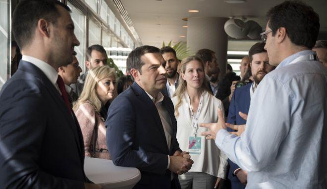 O Αλέξης Τσίπρας στην ανοιχτή εκδήλωση του Ταμείου επιχειρηματικών συμμετοχών EquiFund