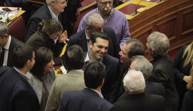 Συζήτηση για τον κρατικό προϋπολογισμό οικονομικού έτους 2017, στην Βουλή, Σάββατο 10 Δεκεμβρίου 2016. (EUROKINISSI/ΓΙΩΡΓΟΣ ΚΟΝΤΑΡΙΝΗΣ)