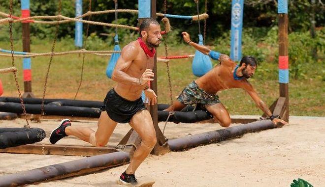 Ο Σώζων Παλαίστρος Χάρος σε αγώνισμα του Survivor