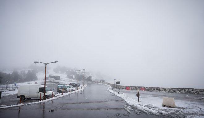 Χιόνια στη Πάρνηθα - φωτογραφία αρχείου